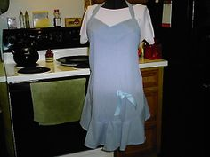 Ladies cotton hostess apron one size fits all