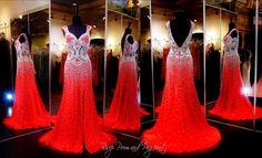 This Red Carpet Evening dress has off the shoulder cap sleeves. This stunning gown is covered with sparkling crystals and beadwork and features a high slit and sweep train. Gorgeous and ONLY at Rsvp Prom and Pageant, Atlanta, GA or Buy it HERE at http://rsvppromandpageant.net/collections/long-gowns/products/red-prom-pageant-dress-silver-beading-cap-sleeves-slit-115ec01512900610