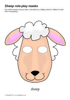 Sheep role-play masks (SB9109) - SparkleBox