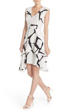 4ce6eeea94a Ivanka Trump Print Layer Fit   Flare Dress
