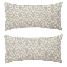 Found it at Wayfair - Scallop Outdoor Lumbar Pillow
