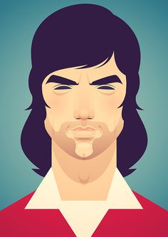 stanleychowillustration:  A footballing Legend. #mufc #best