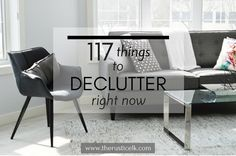 Clutter can be so paralyzing! From tangible to digital and even mental and emotional. Toss the clutter! Get started with these 117 things you won't even miss!