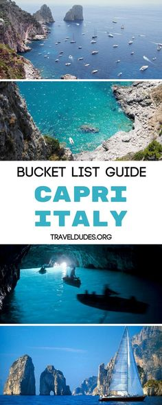 Ten of the best things to do on the Isle of Capri, Italy. Visit the blue grotto, enjoy Marina Piccola beach, dine on Italian food at Il Riccio, hike along the coastal path and take photos of the amazing views and more. Travel in Europe. | Travel Dudes Travel Community#Capri #Italy