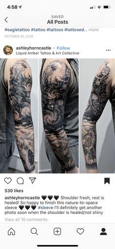 Galaxy Tattoo Sleeve, Space Tattoo Sleeve, Nature Tattoo Sleeve, Tattoo Sleeve Designs, Forearm Cover Up Tattoos, Half Sleeve Tattoos For Guys, Leg Tattoo Men, Best Sleeve Tattoos, J Tattoo
