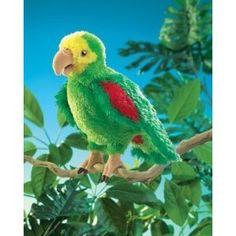 Folkmanis Puppet Amazon Parrot.  FOR DIAPER CAKE