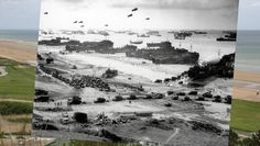 15 Incredible Photo Composites Match Up Normandy on D-Day and Today. American craft of all styles pictured at Omaha Beach, Normandy, during the first stages of the Allied invasion. D Day Photos, Then And Now Photos, D Day Normandy, Normandy Beach, Normandy France, D Day Beach, Juno Beach, D Day Invasion, D Day Landings
