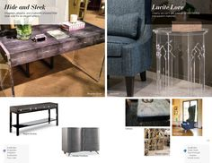 Trends: Hide and Sleek and Lucite Love High Point Market, Ottoman, Trends, Interior Design, Chair, Spring, Summer, Life, Furniture