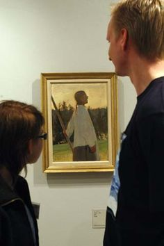 Ellen Thesleffin teoksia oli esillä Taidekeskus Retretissä Punkaharjulla kesällä 2008. Kuvassa Ellen Thessleffin vuonna 1891 maalaama Kaiku-teos. Kuva Lehtikuva/Vesa Moilanen.