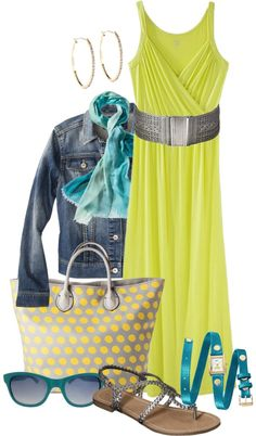 """Yellow maxi dress"" by i-dream-of-jeans ❤ liked on Polyvore"