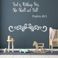Psalms 46:5 Bible Verse  Decal, Bible Quote Decor, God Is Within Her She Shall Not Fall,  Bible Verse Inspirational Decal, Bible Art nm163#bibleverse #biblestudy #inspirationalquotes #inspirationaldecals #memes #memesdaily #quotes #quotestoliveby #walldecals #motivationalquotes #biblequotes #familyquotes #meme #roomdecor #diyproject