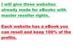tooonyg: give 3 websites that include matching eBook with reseller rights for $5, on http://www.fiverr.com/tooonyg