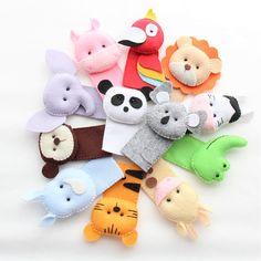 Felt Finger Puppets, Hand Puppets, Felt Puppets, Felt Crafts, Diy And Crafts, Crafts For Kids, Finger Puppet Patterns, Puppets For Kids, Felt Monster