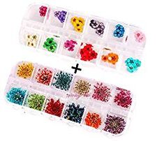 XICHEN 36 Starry Plus 36 Five Flower Flower Three-Dimensional Applique Nail Stickers Nail Supplies Dried Flowers 2 12 Color (Starry and Five Flower) Glow Nails, Dry Nails, Nail Art Printer, Plain Nails, Gel Acrylic Nails, Flower Nail Art, Nail Supply, Diy Manicure, Nail Art Stickers