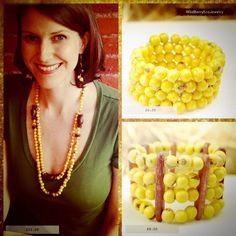 Yellow Women's Eco Fashion jewelry - necklaces bracelets acai berry