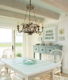 Beach house table! Wonder if it could be made out of pallets?