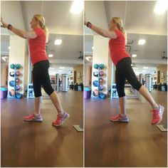 Core, Hip and Glute Routine - Standing Angled Leg Lift - Coach Debbie Runs