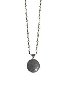 AZURINE by Lisa Stewart Gray Labdorite with Diamonds Necklace