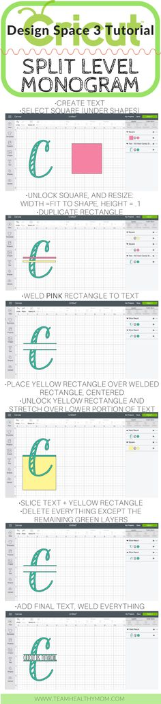 How To Slice In Cricut Design Space 3 • Design Space Tutorials | Team Healthy Mom