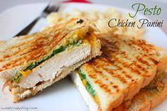 Pesto Chicken Panini   iwantcrazyblog.com