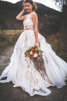Trennt Hochzeitskleid rustikale Hochzeit Hochzeit Kleider