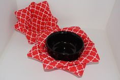 Microwave Bowl Cozy Set of 4 2 Small and 2 Large by Hot4Handmade