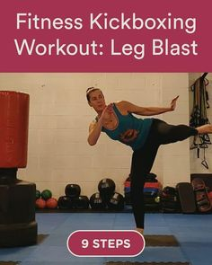 Discover how to Fitness Kickboxing Workout: Leg Blast in 9 steps Boxing Workout With Bag, Boxing Workout Routine, Punching Bag Workout, Women Boxing Workout, Workout Fitness, Boxing For Fitness, Kickboxing Benefits, Kickboxing Moves, Kickboxing Fitness