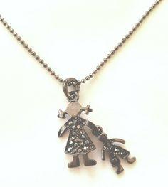 Buy Fashion Jewelry, Trendy Jewelry, Pendant Necklace, Gray Color Jewelry, Necklace, Rhinestone Necklace, Boy Necklace, Girl Pendant