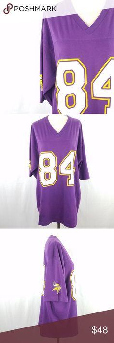 1230b09c9 Vintage 90s 84 Randy Moss Vikings Night Shirt Circa 1998 100% cotton V neck  Excellent · Minnesota VikingsNflFootballVintage ...