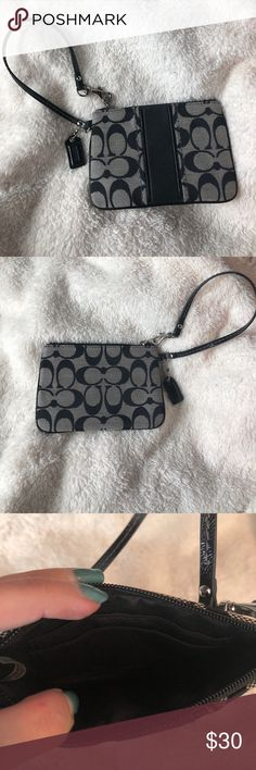 Coach wristlet This wristlet is in perfect condition. It has 2 card holders inside. Coach Bags Clutches & Wristlets