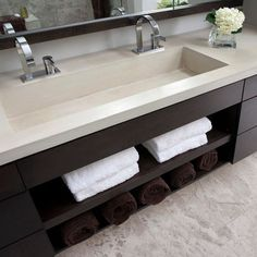 One wide sink.....two faucets. A must in my new house design!