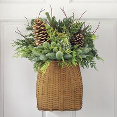 Gorgeous Christmas Arrangement.. and the easiest to make too with cuttings from your yard or your woods...