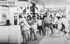 The Hangout at Panama City Beach, Florida, 1950's by stevesobczuk, via Flickr