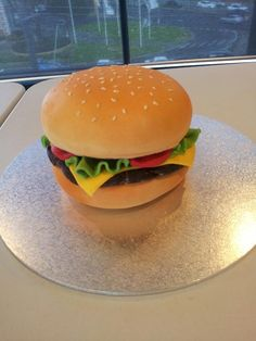 Cheese burger cake. Cake Central.