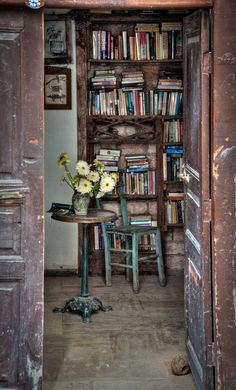 A fine little library for your fine little cottage.