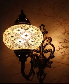 Vanity Lamp - Gold Sparkle