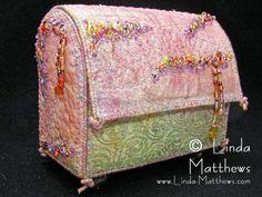 Embellishments....fabric Box....