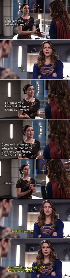 Lena, you don't mess with potstickers! #supercorp