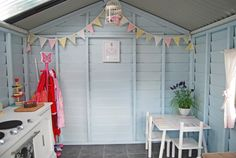 Tips And Tricks For The Best Cubby House Paint Scheme's And Design Ideas. Decorated Cubby Houses Are Becoming Increasingly Popular. View Aarons Top Tips! Kids Cubby Houses, Kids Cubbies, Play Houses, Playhouse Interior, Wendy House, House Inside, Kid Spaces, Small Spaces, Little Houses
