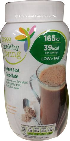 Tesco healthy living low calorie hot chocolate