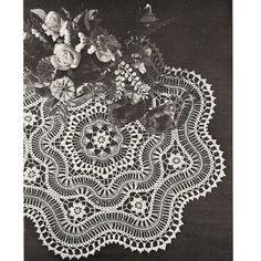 """""""Hairpin Lace Centerpiece Crochet Doily PDF Pattern""""  Cuff Bracelet Pattern Inspiration"""