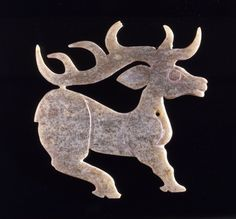 Jade Figure of a Stag |  1100 - 901 BC -   Zhou Dynasty