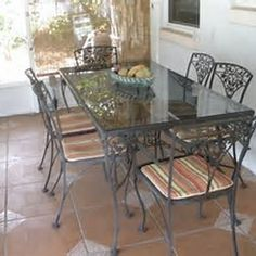 Woodard Vintage Wrought Iron Table and Chairs