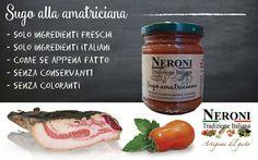 Sugo all'amatriciana... #neronitradizioneitaliana #madeinitaly #ciboitaliano #trasformazione #creme #patè #sughi