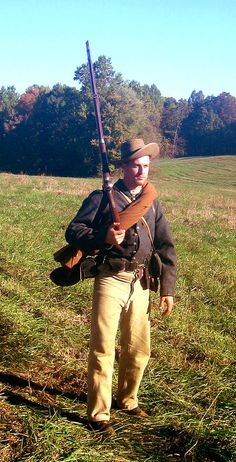 Skip Owens in a fantastic Civil War Confederate impression - generic ANV soldier