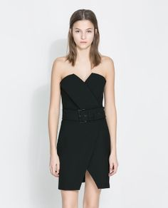 Image 3 of FAUX LEATHER COMBINATION DRESS from Zara