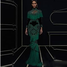 HIGH QUALITY Newest Fashion 2016 Runway Maxi Dress Women's Hollow Out Luxurious Handwork Beading Tassel Long Dress