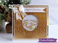 """6"""" x 6"""" Card using Crafter's Companion Foil Transfers. Designed by Angela Clerehugh #crafterscompanion"""