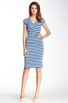 Nicole Miller | Nicole Miller Striped Jersey Dress | HauteLook