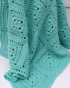 Picture of Baby Puff Square Afghan Crochet Pattern                                                                                                                                                                                 More